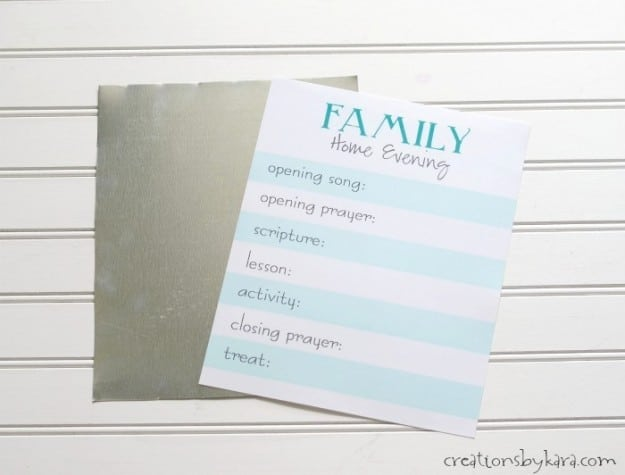 How to make a magnetic Family Home Evening Board