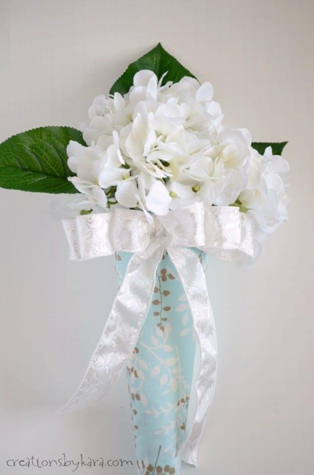 Styrofoam Cone Flower Wall Hanging