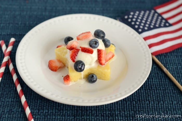 Lemon Stars with Fresh Berries- a perfect patriotic dessert for the 4th of July!