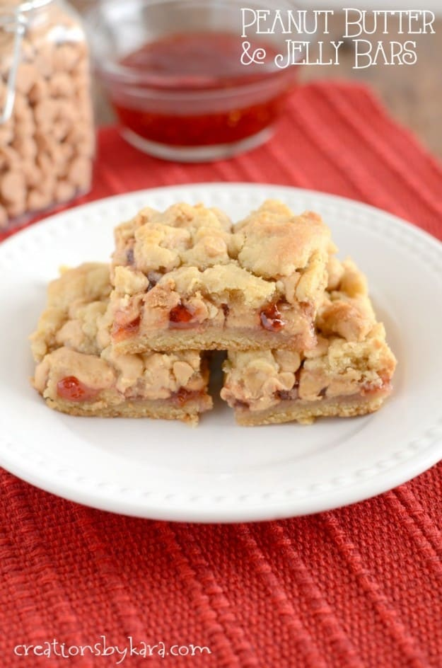 Peanut Butter and Jelly Bars are a fun alternative to regular peanut ...