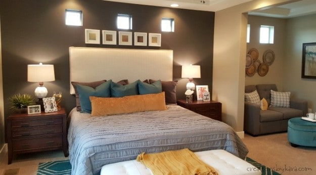 Master bedroom with sitting nook
