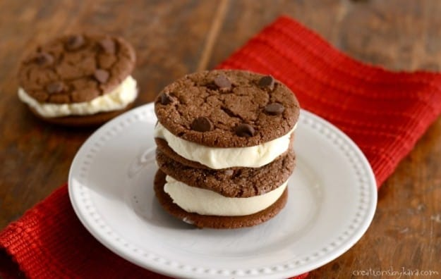 Recipe for chocolate ice cream sandwiches