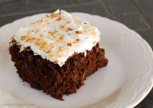 Chocolate Zucchini Cake With Sour Cream Frosting Recipes — Dishmaps