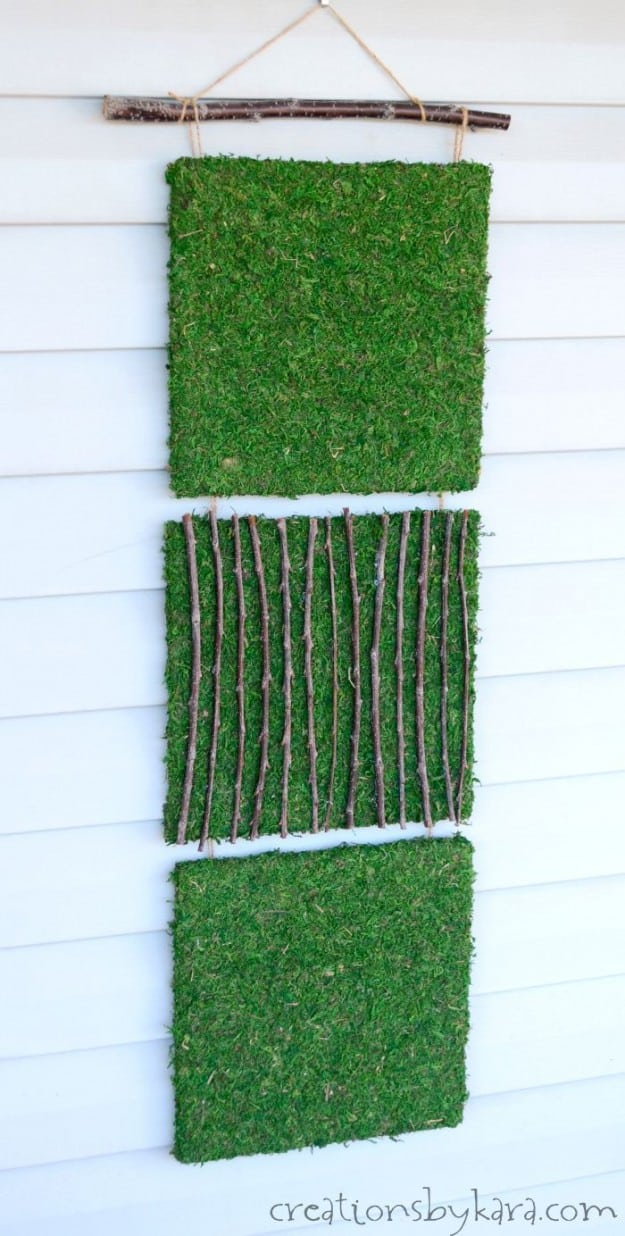 Easy Hanging Moss Art for your patio