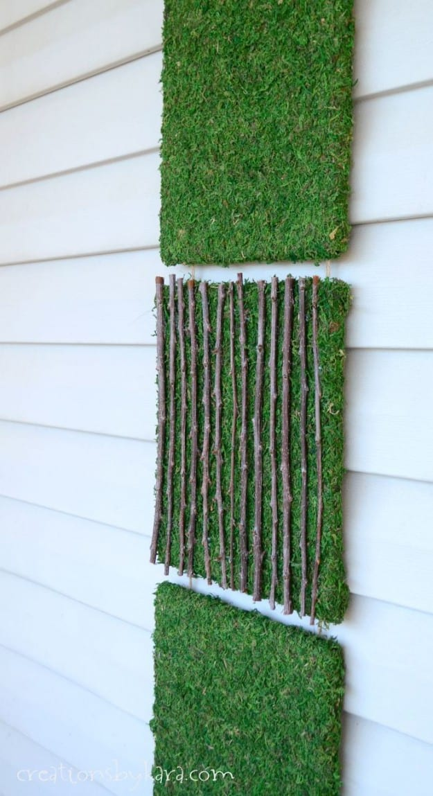 Outdoor Decor idea: Moss Art Tutorial