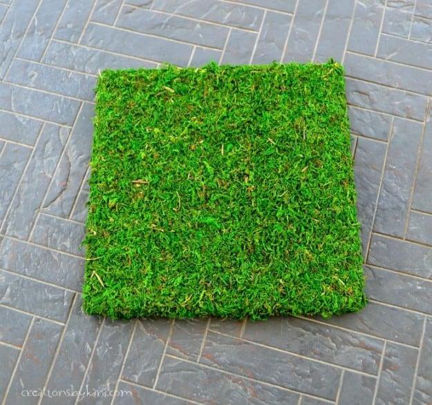 Hanging Moss Art- perfect outdoor decor!