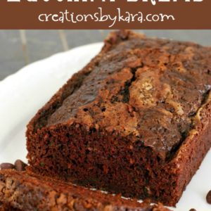 decadent chocolate zucchini bread with chocolate chips