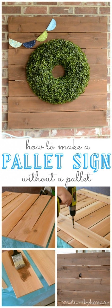 pallet sign long collage