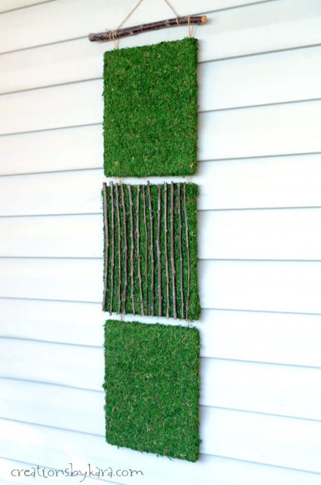 You will be surprised how easy it is to make this pretty patio decor!