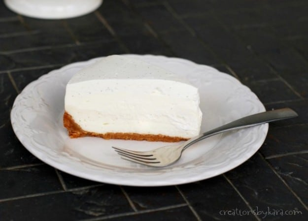 This vanilla bean cheesecake is so good it stands alone, no toppings required!