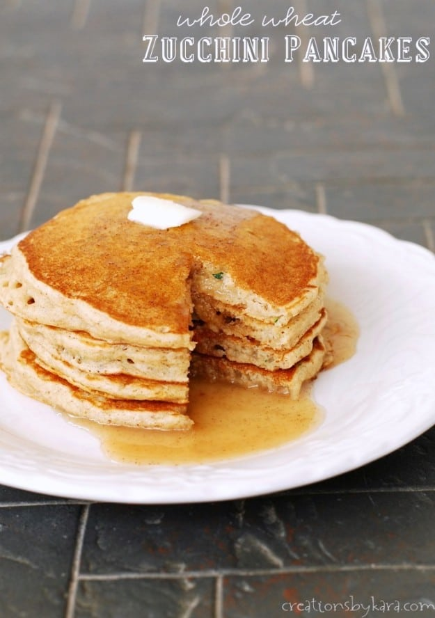 How to make Whole Wheat Zucchini Pancakes the whole family will love.