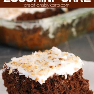 coconut chocolate zucchini cake with coconut frosting