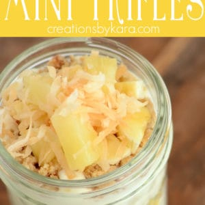 pina colada trifles recipe Pinterest Pin