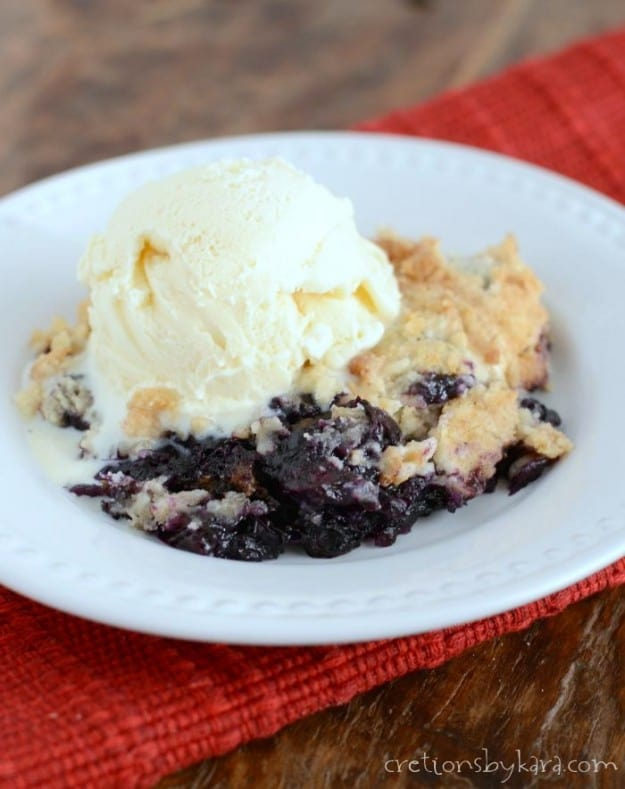 Super easy blueberry crisp.