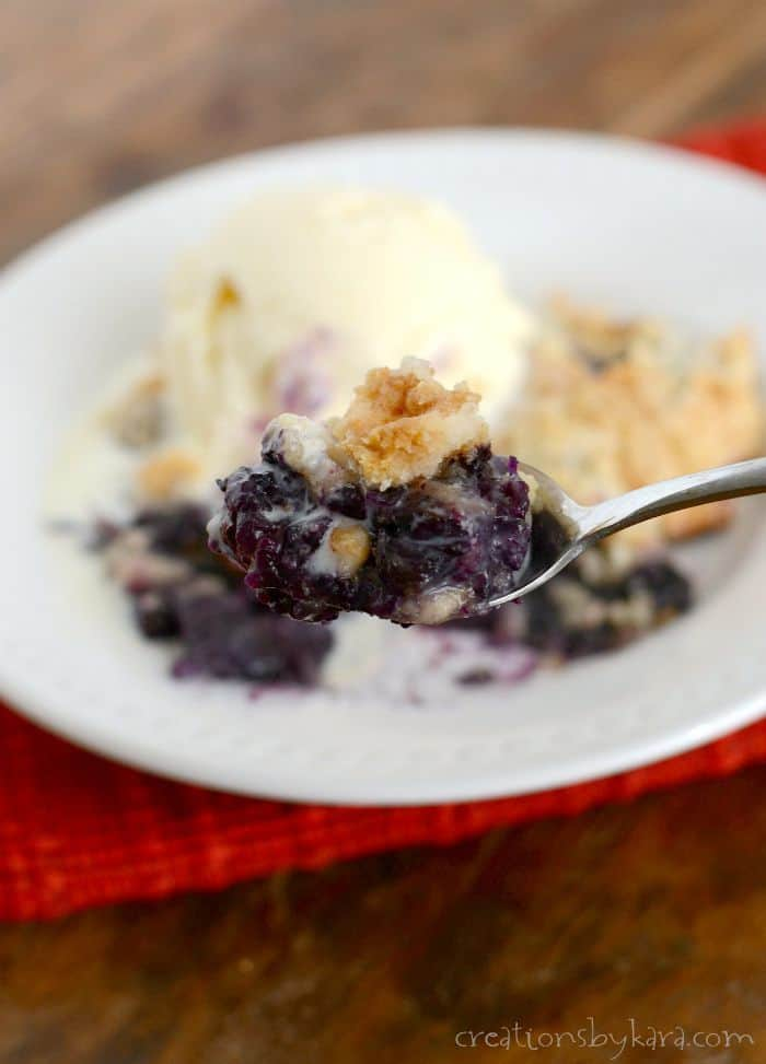 Blueberry Dump Cake Creations By Kara