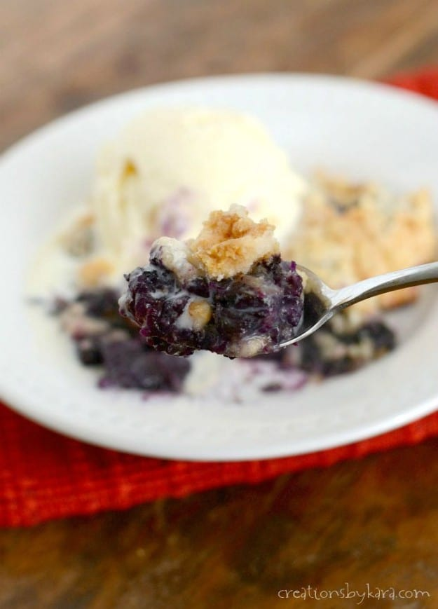 Easiest Blueberry Crisp ever!