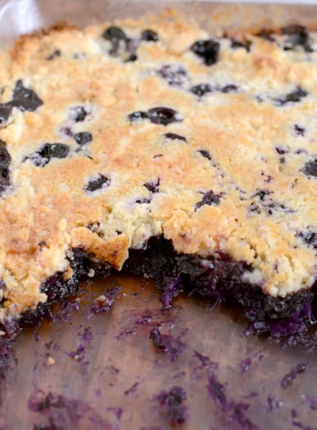 Blueberry Dump Cake With Cake Mix