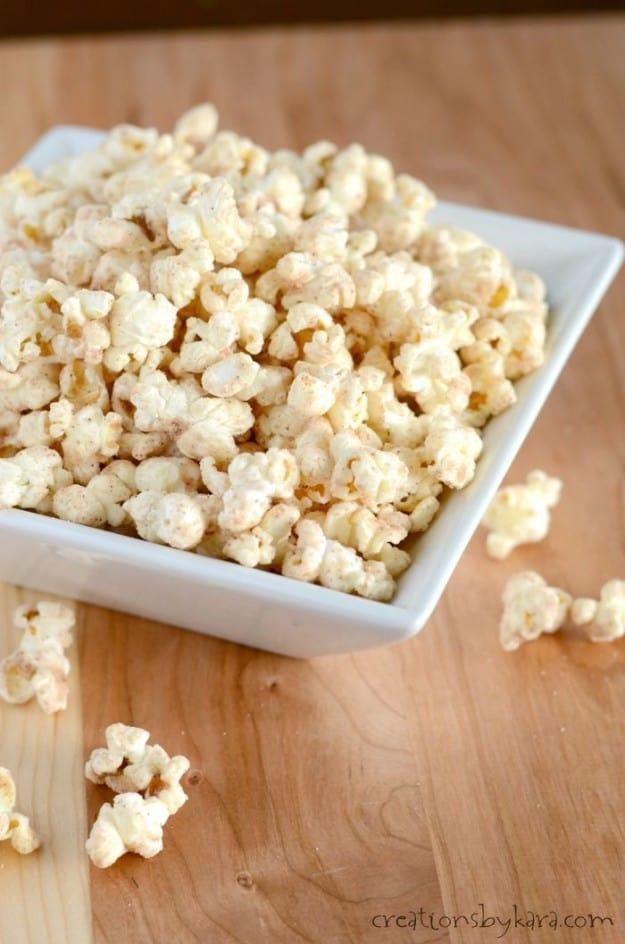 Easy cinnamon glazed popcorn recipe