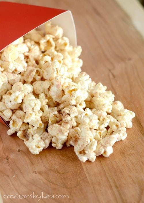 Cinnamon Glazed Popcorn- an easy, tasty snack!