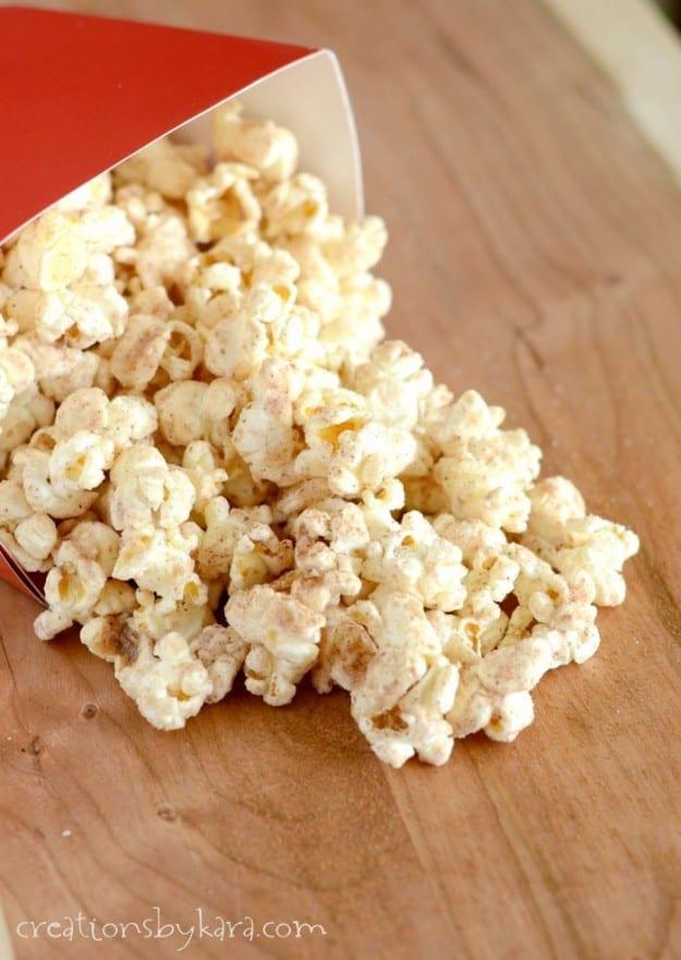 Cinnamon Glazed Popcorn- an easy, tasty snack!