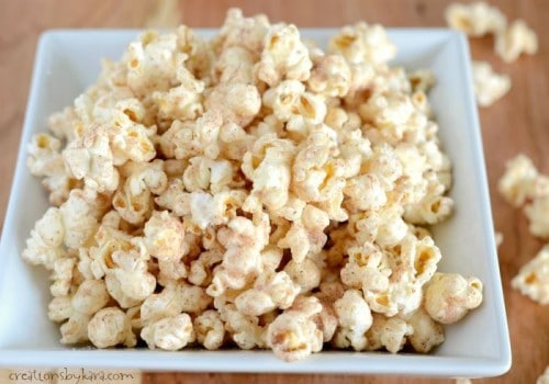 Recipe for cinnamon popcorn- a tasty snack!