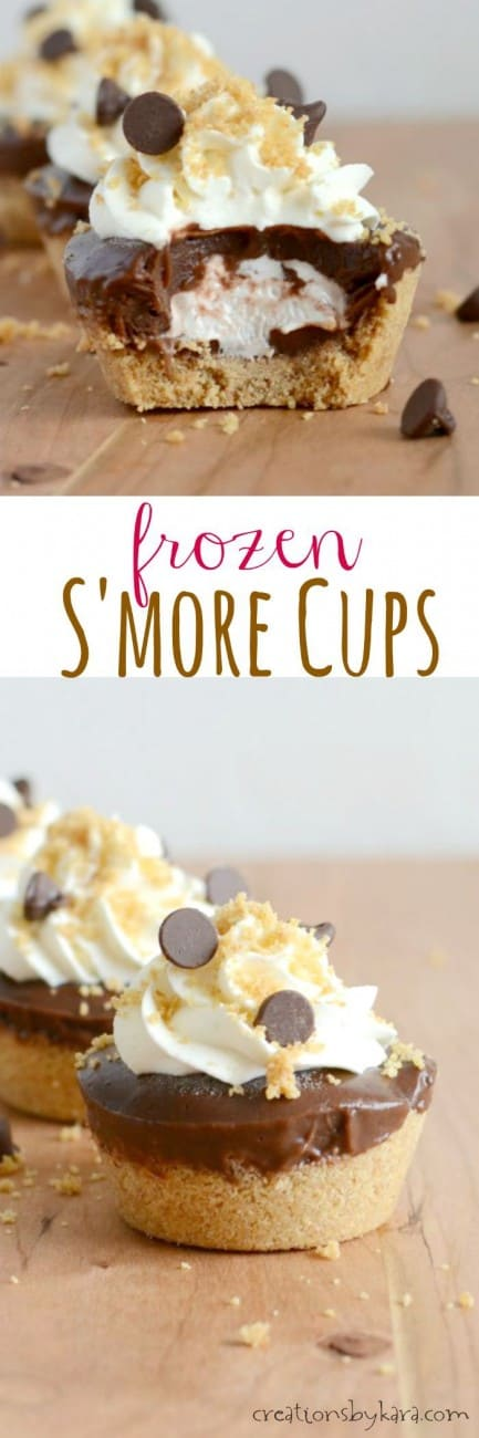 Frozen Smores Cups- a refreshing summer treat!
