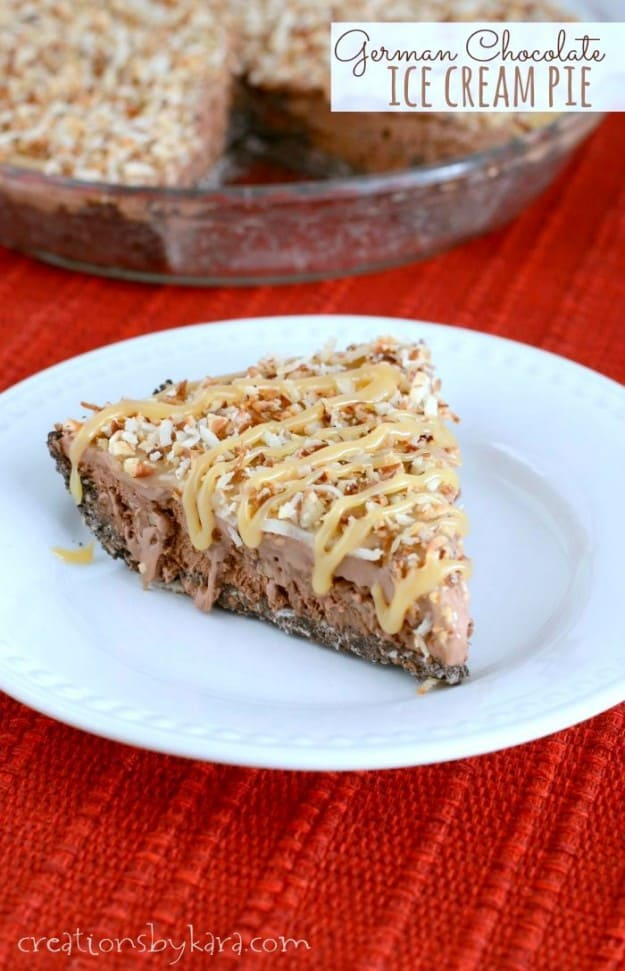 German Chocolate Ice Cream Pie- all the flavors of German chocolate ...