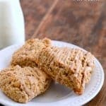 Maple Nut Oat Scones with maple glaze