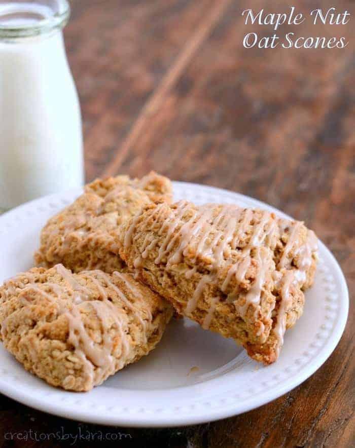 Maple Nut Oatmeal Scones