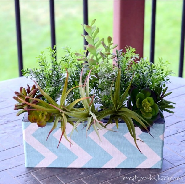 How to make a faux succulent arrangement