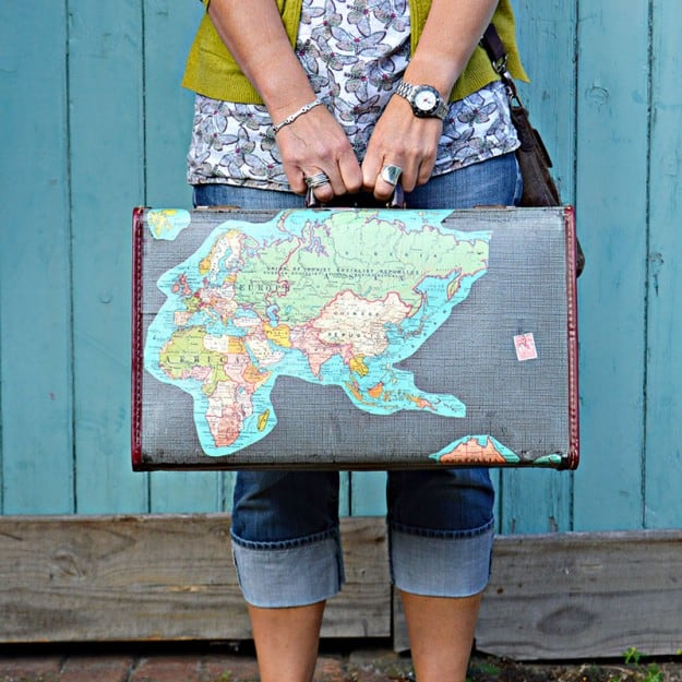 DIY Vintage Suitcase- link party feature