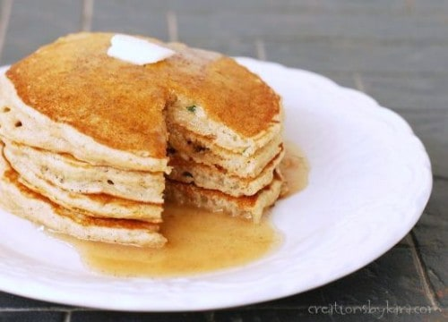 Give these Whole Wheat Zucchini Pancakes a try- they are simply amazing!