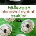 Bloodshot Eyeball Halloween Cookies- only 4 ingredients!