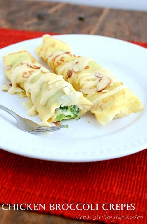 Chicken Crepes with Broccoli title photo