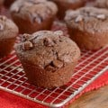 Chocolate Lovers Muffins- loaded with chocolate chips, these chocolate muffins are a decadent breakfast treat!