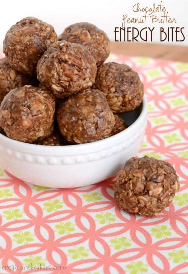Chocolate Peanut Butter Bites- a healthy but delicious snack that everyone will love!