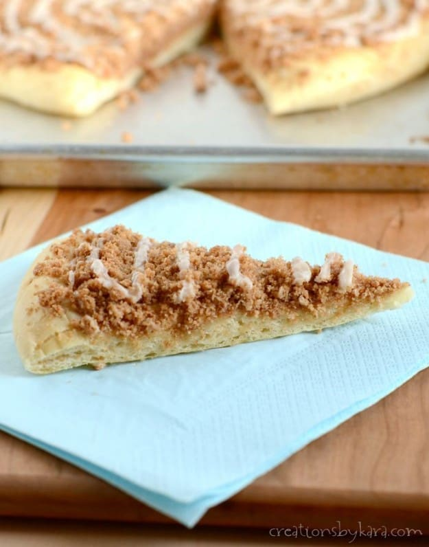 This Cinnamon Crumb Pizza is made from scratch, and perfect for fall baking!