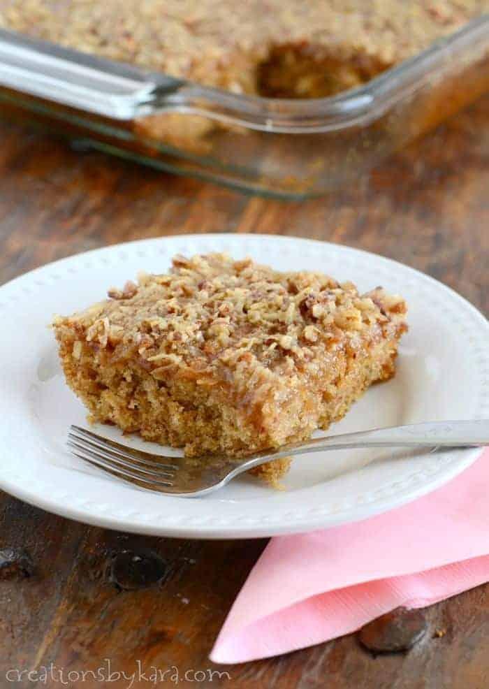 Oatmeal Cake Broiled Coconut Toppingoatmeal Cake Calories