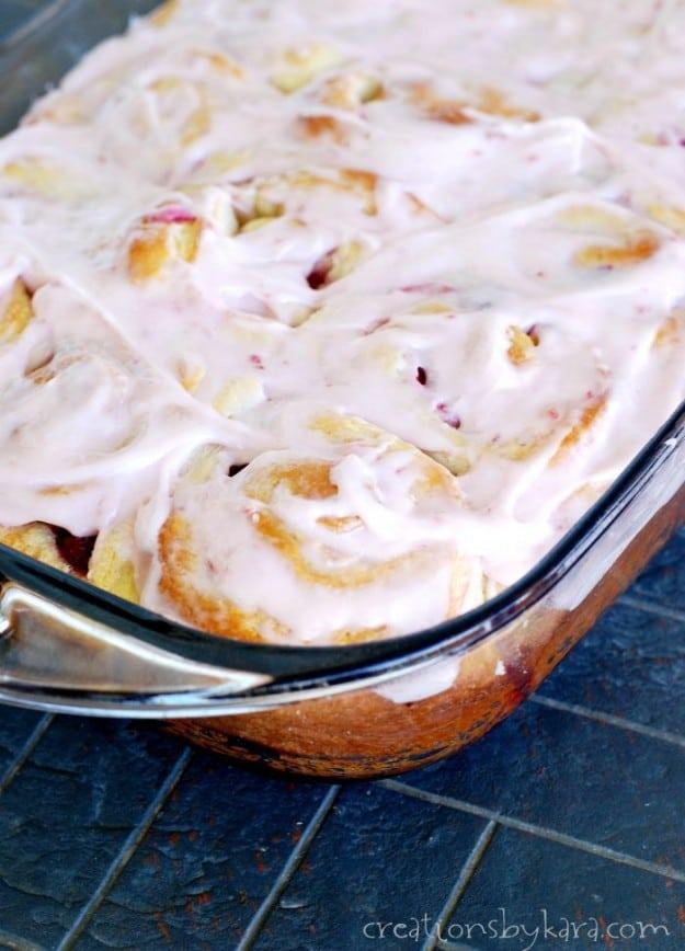 Recipe for raspberry sweet rolls