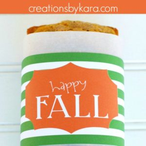 happy fall bread wrapper