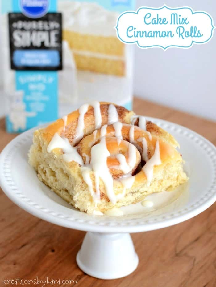 Cinnamon Rolls Made With White Cake Mix
