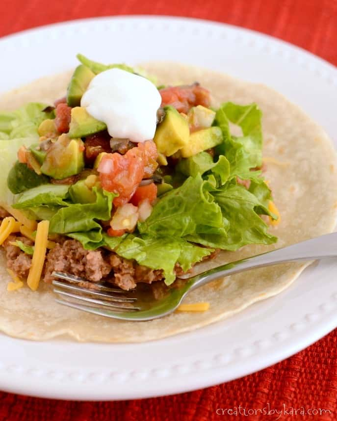 Recipe for homemade tostadas. This was one of my very favorite meals growing up!