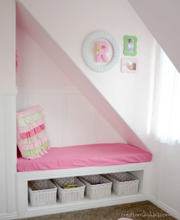 Pink reading nook