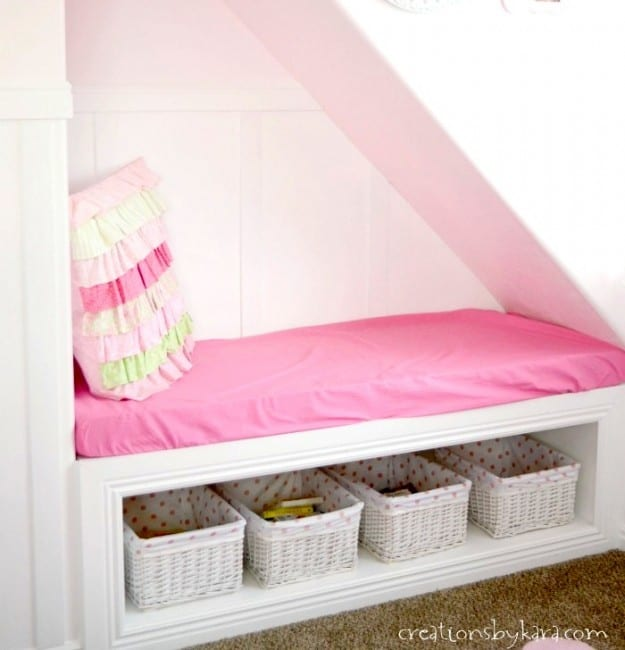 Reading nook for a little girls room