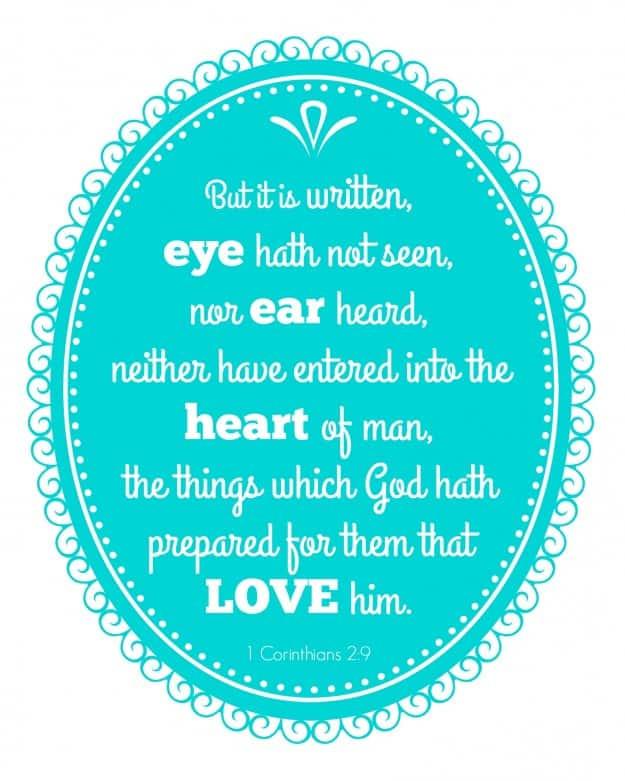 Free scripture quote printable - 1 Corinthians 2:9