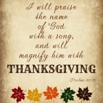 Magnify Him with Thanksgiving. . . ponderize free printable #ponderize #ldsconf