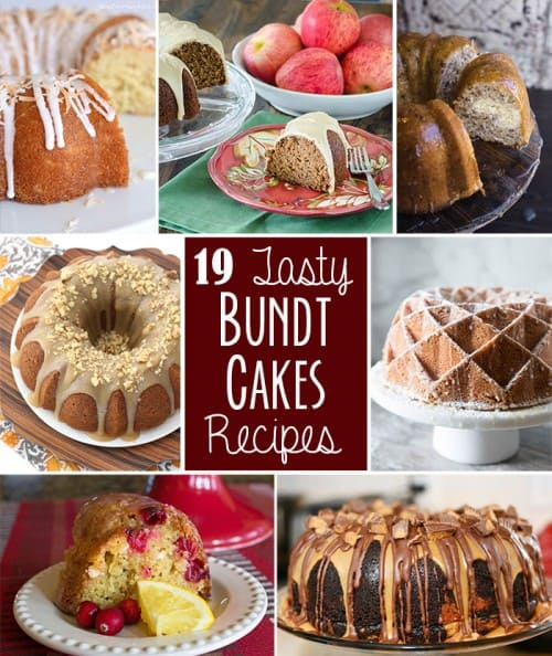 Bundt Cake Recipes collage