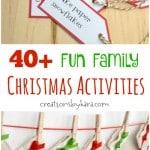 Christmas Activities Advent Calendar Ideas {Free Printable}