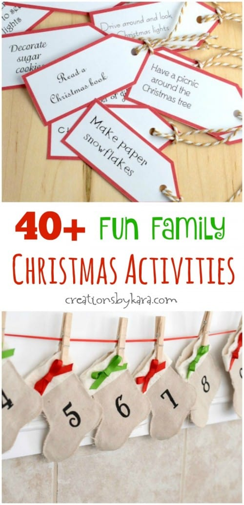 40 fun family christmas activities print out the cards and make an advent calendar - Activities To Print Out