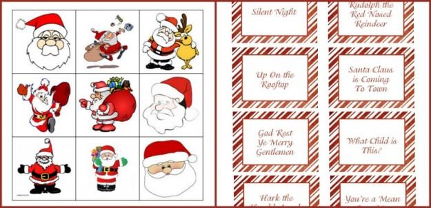 Christmas Carol Song Pictionary Game